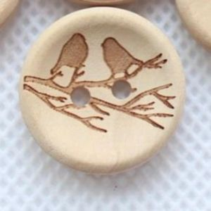Other - Wooden bird buttons bundle of 8